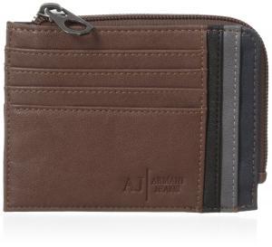 Ví Armani Jeans Men's Y2 Logo Zip Card Case