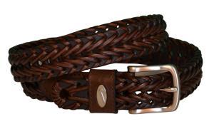 Dây lưng Nike Golf Men's Leather Woven Brown Belt-34