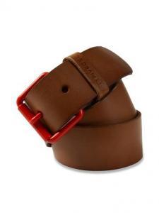 Dây lưng Diesel 55 DSL Men's Ceskat Polished Leather Belt Tan Brown EU 85 cm (34