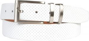 Dây lưng Nike Men's Belt Pin Dot Embossed Premium White