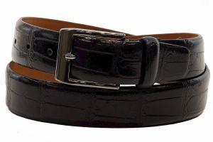 Dây lưng Trafalgar Men's Alessandro Black Genuine Leather Belt