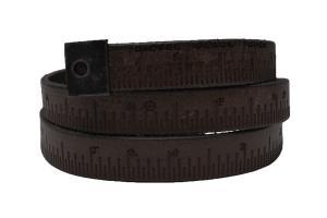 Dây lưng Diesel Men's Metri5 Narrow Leather Ruler Belt Black EU 100 cm (40