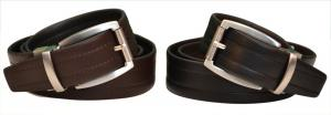 Dây lưng Nike Golf Men's Reversible Leather Belt Black/Brown