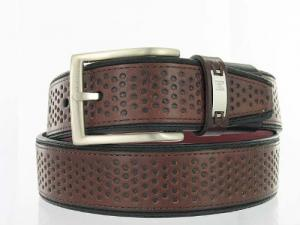 Dây lưng Tiger Woods by Nike Men's Brown and black Genuine Leather Casual Belt