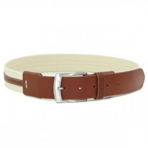 Dây lưng Nike Men's Golf Belt - Waxed Canvas And Leather - Brown/Tan 44