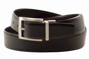 Dây lưng Trafalgar Men's Waylan Black/Brown Reversible Leather Belt