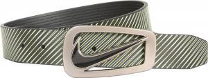Dây lưng Nike Men's Belt Signature Swoosh Striped Reversible Black/Green