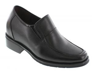 Giày CALDEN - K78562 - 3.8 Inches Taller - Super Light - Height Increasing Elevator Shoes (Black Extra Heightening Slip On Shoes)