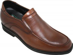 Giày CALDEN - K312319 - 2.6 Inches Taller - Height Increasing Shoes for Men (Super Lightweight Brown Leather Slip on Dress Shoes)