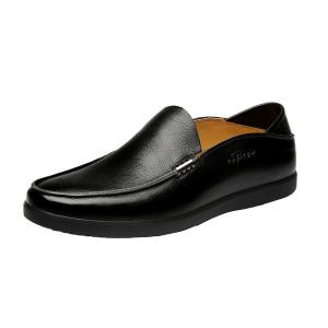 Giày Men's Casual Genuine Leather Slip-On Loafer Driving Shoes
