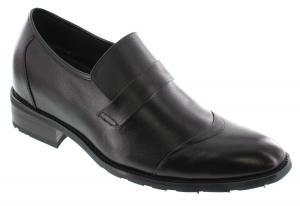 Giày CALDEN - K9G008 - 2.6 Inches Taller - Height Increasing Elevator Shoes (Black Slip On Dress Shoes)