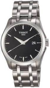 Đồng hồ Tissot Men's T0354101105100 Couturier Black Dial Stainless Steel Watch