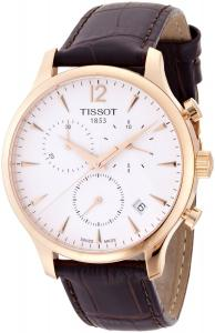 Đồng hồ Tissot Mens T063.617.36.037.00 Tradition Gold Tone Watch with Leather Strap