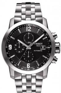 Đồng hồ Tissot PRC 200 Automatic Chronograph Black Dial Stainless Steel Mens Watch T0554271105700