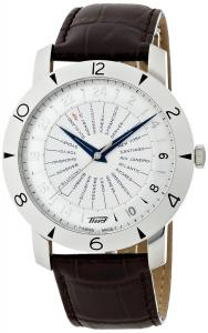 Đồng hồ Tissot Heritage Navigator Silver Dial Brown Leather Mens Watch T0786411603700