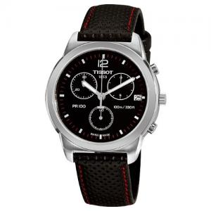 Đồng hồ Tissot Men's T0494171605700 PR 100 Black Chronograph Dial Watch