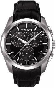 Đồng hồ Tissot Men's Couturier T035.617.16.051.00 Black Leather Swiss Quartz Watch with Black Dial