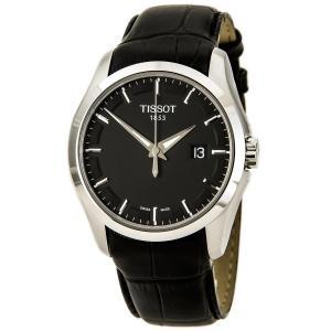 Đồng hồ Tissot Couturier Leather Date Strap Black Dial Men's Watch #T035.410.16.051.00