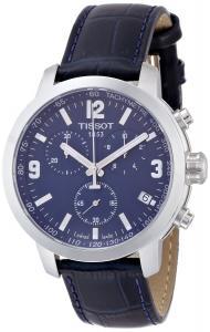 Đồng hồ Tissot PRC 200 Chronograph Blue Dial Blue Leather Mens Watch T0554171604700