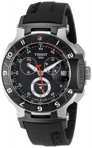 Đồng hồ Tissot Men's T0484172705100 T-Race Black Chronograph Dial Watch