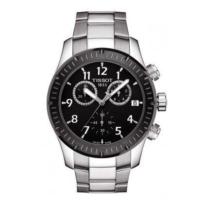 Đồng hồ Tissot V8 Chronograph Black Dial Stainless Steel Mens Watch T0394172105700