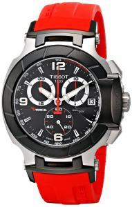 Đồng hồ Tissot Men's T0484172705701 T-Race Red Strap Chronograph Watch
