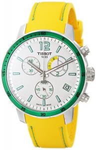 Đồng hồ Tissot Men's T0954491703701 Quickster Analog Display Swiss Quartz Yellow Watch