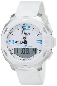 Đồng hồ Tissot Men's T0814201701701 T-Race Touch Analog-Digital Display Swiss Quartz White Watch