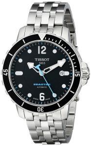 Đồng hồ Tissot Men's T0664071105700 SeaStar Black Automatic Dial Watch