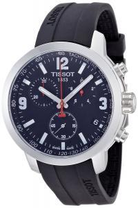 Đồng hồ Tissot PRC 200 Chronograph Black Dial Black Rubber Mens Watch T0554171705700
