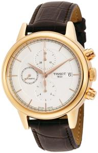 Đồng hồ Tissot Carson Automatic Chronograph Silver Dial Black Leather Mens Watch T0854273601100