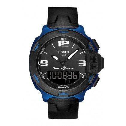 Đồng hồ Tissot T-Race Touch Black Dial Black Rubber Mens Watch T0814209705700