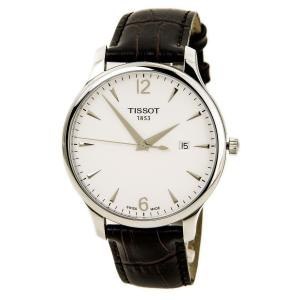 Đồng hồ Tissot T Classic Tradition Silver Dial Brown Leather Mens Watch T0636101603700