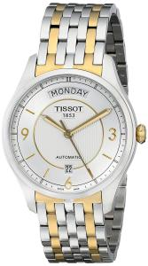 Đồng hồ Tissot Men's T0384302203700 T-One Silver Dial Two Tone Watch