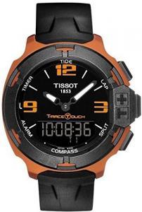 Đồng hồ Tissot T-Race Touch Black Dial Orange Rubber Mens Watch T0814209705703