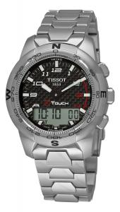 Đồng hồ Tissot Men's T0474204420700 T-Touch II Black Chronograph Dial Watch