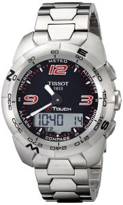 Đồng hồ Tissot Men's T0134201105700 T-Touch Expert Stainless Steel Black Dial Watch