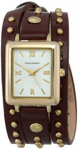 Đồng hồ Vernier Women's VNR11154YG Vernier Analog Display Japanese Quartz Brown Watch