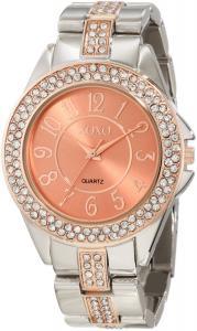 Đồng hồ XOXO Women's XO5464 Rhinestone Accent Silver-Tone Analog Bracelet Watch