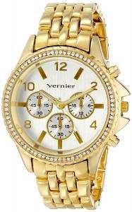 Đồng hồ Vernier Women's VNR11158YG Vernier Analog Display Japanese Quartz Gold Watch
