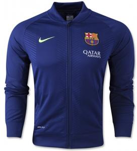 Áo khoác 2014-2015 Barcelona Nike Pre-Match Knit Jacket (Navy)