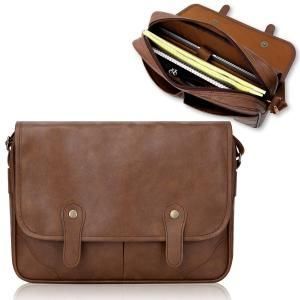 Túi Duzign Rover Messenger Bag (Light Brown) for 11 Inch MacBook Air + Pocket for Apple iPad