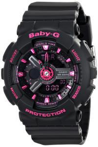 Đồng hồ Casio Women's BA-111-1ACR Baby-G Analog-Digital Display Quartz Black Watch