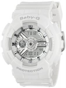 Đồng hồ Casio Women's BA-110-7A3CR Baby-G Analog Display Quartz White Watch
