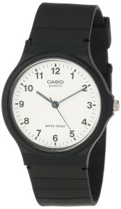 Đồng hồ Casio Unisex MQ24-7B Analog Black Resin Strap Casual Watch