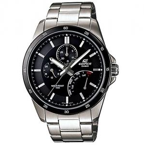 Đồng hồ Casio Stainless Steel Edifice Black Dial Quartz Date Retrograde Day EF341D-1AV