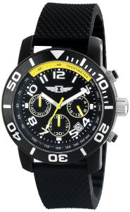Đồng hồ I By Invicta Men's 41701-001 Chronograph Black Stainless Steel Rubber Watch