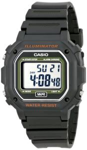 Đồng hồ Casio Kids F-108WH-3ACF Big Square Digital Display Quartz Black Watch