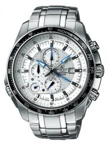 Đồng hồ Casio Stainless Steel Edifice White Dial Alarm Chronograph Tachymeter
