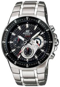 Đồng hồ Casio Men's EF552D-1AV Silver Stainless-Steel Quartz Watch with Black Dial